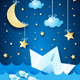 Fantasy Seascape with Paper Boat - GraphicRiver Item for Sale