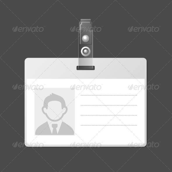 blank identification card badge id template by in finity graphicriver