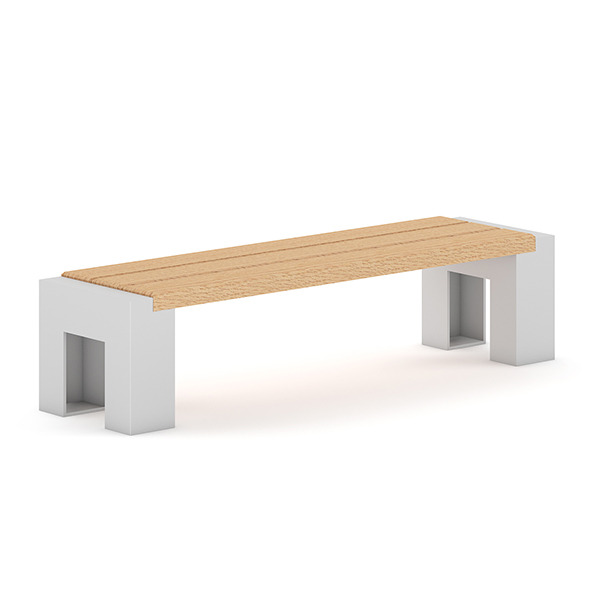 Wooden Bench 4 - 3DOcean Item for Sale