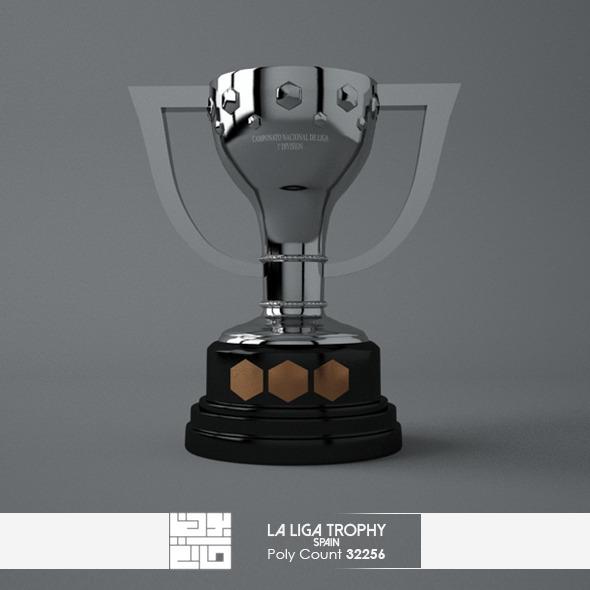 La Liga Trophy 3D Model - 3DOcean Item for Sale