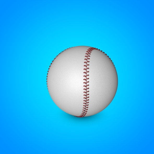 Baseball 3D model - 3DOcean Item for Sale