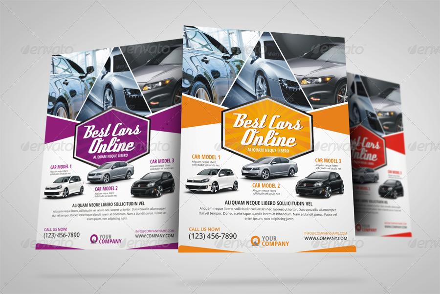 Automotive Car Sale Rental Flyer Ad   Corporate Flyers. Preview Image  Set/131.png Preview Image Set/132.png ...