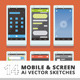 14 Mobile and Screen Sketches - GraphicRiver Item for Sale