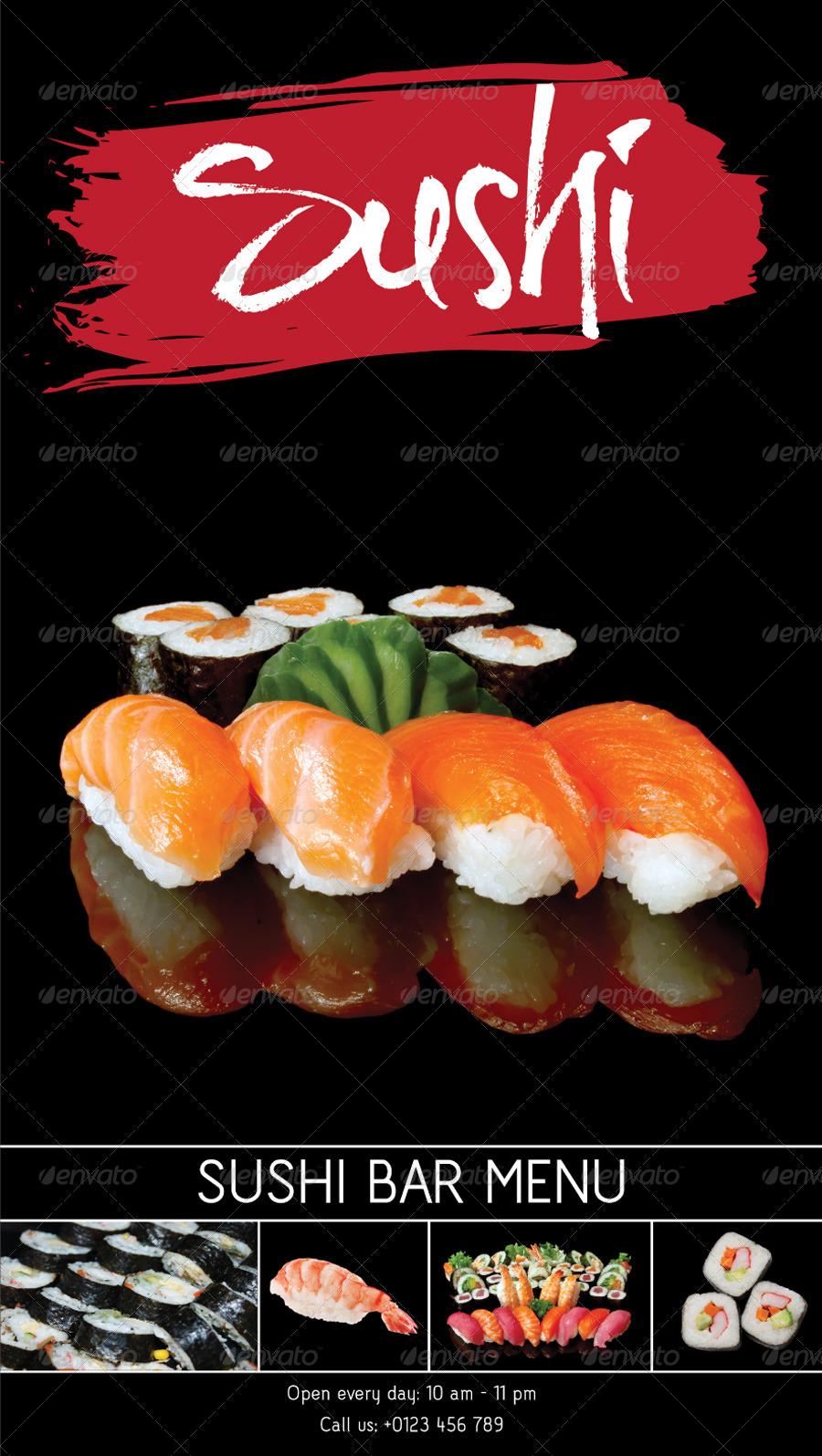 Sushi bar menu template by kukidizajn graphicriver sushi bar menu image setg pronofoot35fo Gallery