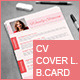 Resume, Cover Letter & Business Card - GraphicRiver Item for Sale
