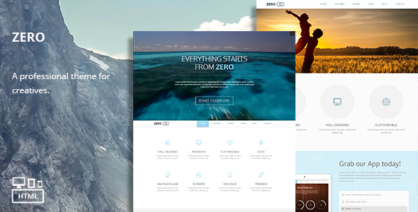 Zero – Responsive Multi-Purpose HTML Theme