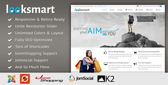 LookSmart – Responsive Multi-Purpose Joomla Theme