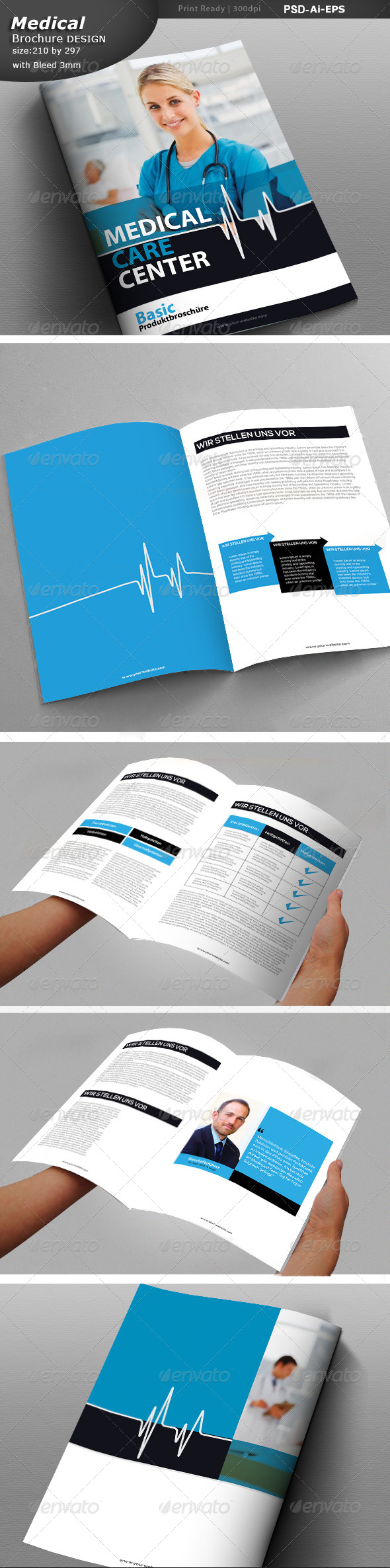 Medical Center Brochure Design  - Print Templates