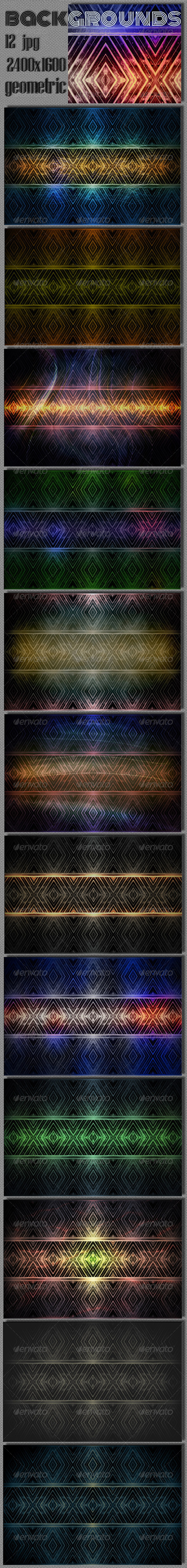 Geometric Rhombus Background