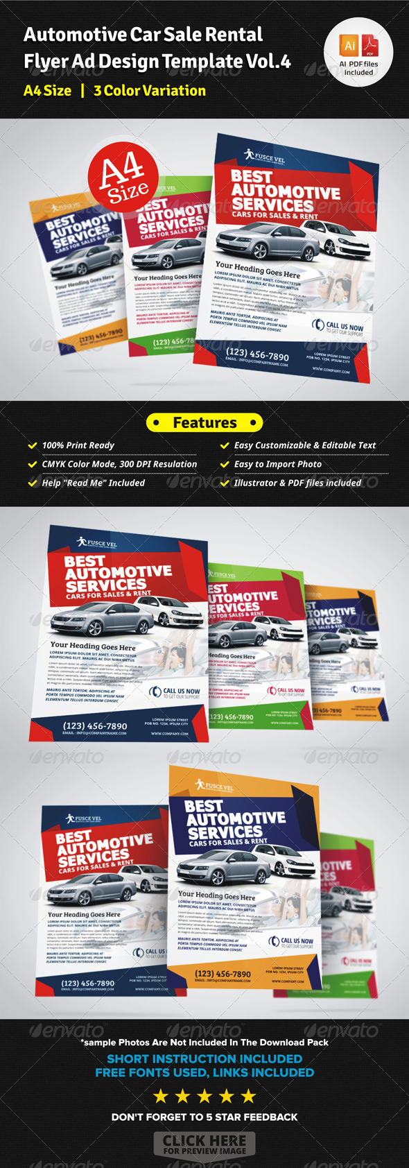 Automotive Car Sale Rental Flyer Ad Template Vol4 by JbnComilla – Car Ad Template