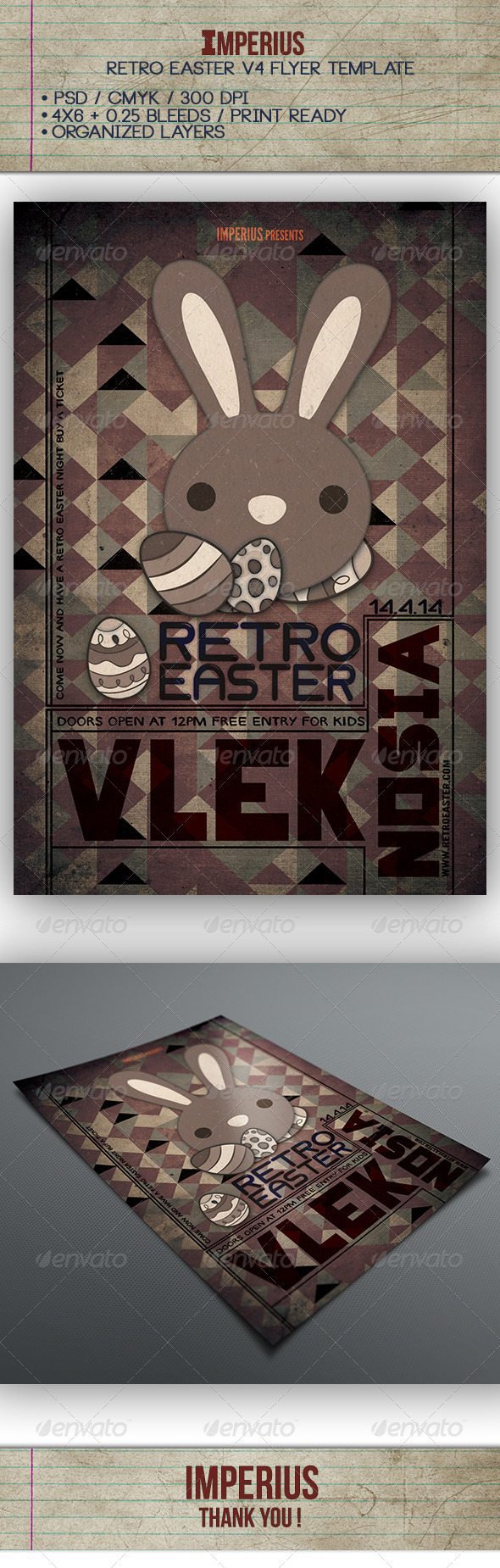 Retro Easter V4 - Flyers Print Templates