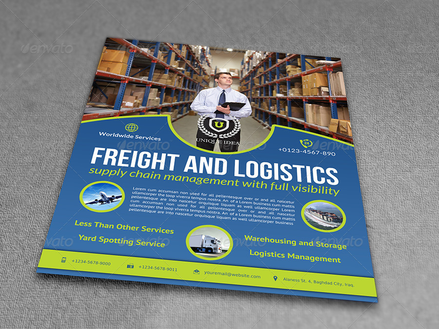 freight and logistic services flyer template vol 4 by owpictures