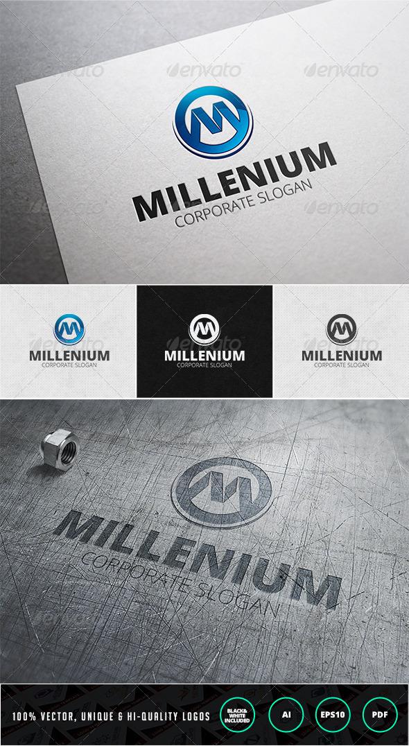 Millenium Logo Template - Letters Logo Templates