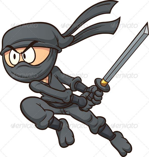 cartoon ninja clip art - photo #9