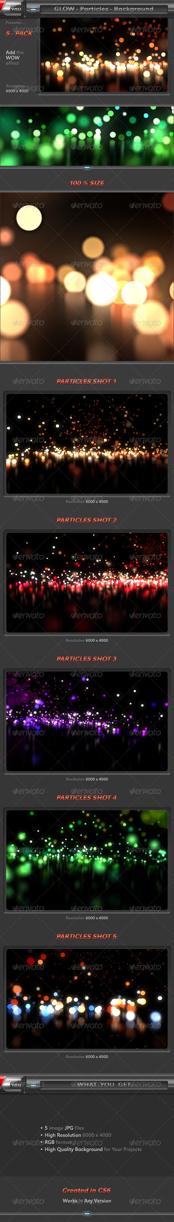 Glow Particles Pack - Abstract Backgrounds