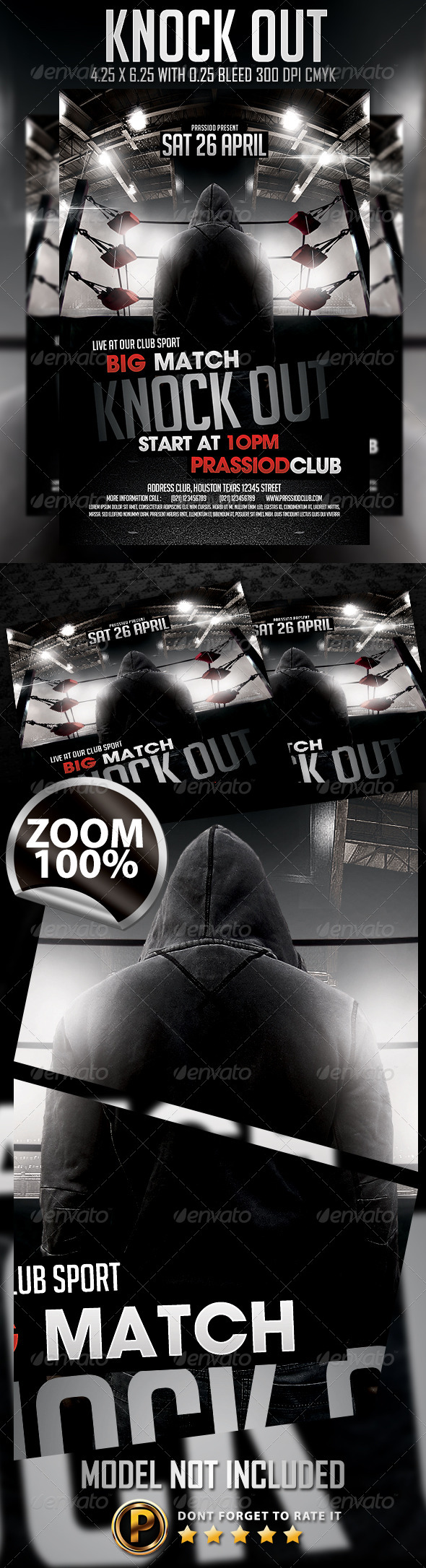 Knock Out Flyer Template - Sports Events