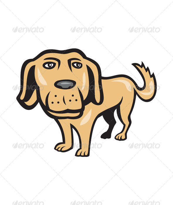 Cartoon Characters With Big Heads : Retriever dog big head isolated cartoon by patrimonio