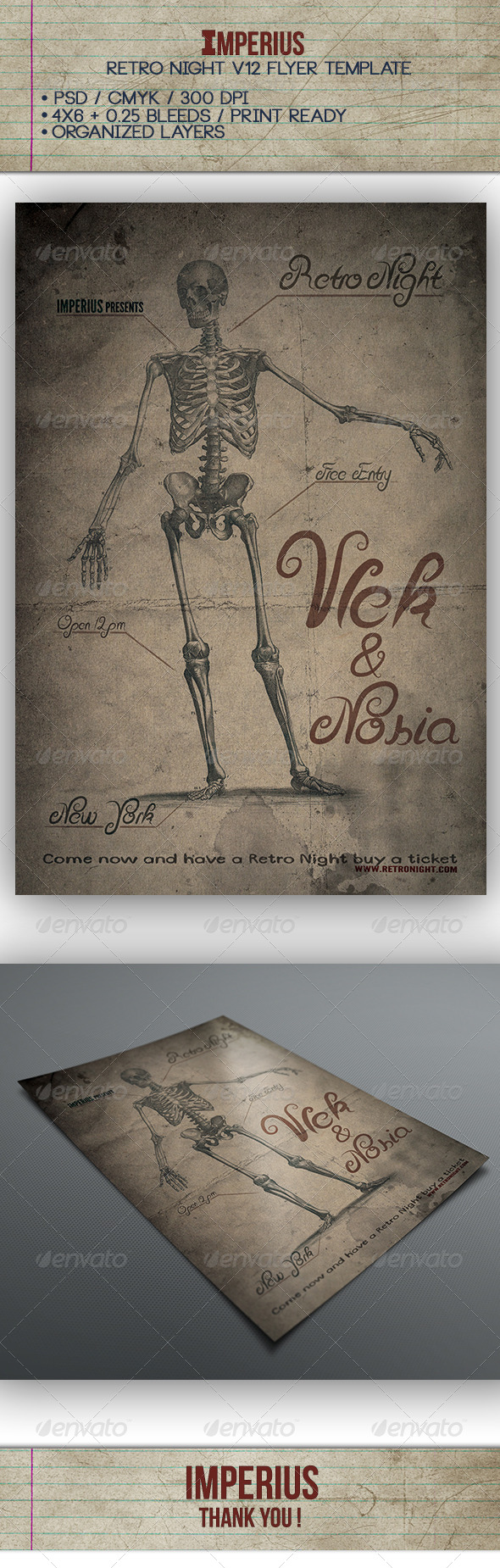 Retro Night V12 - Flyers Print Templates