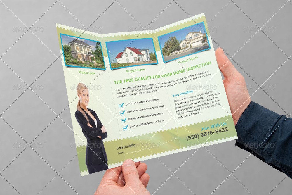 real estate tri fold brochure template - real estate business tri fold brochure volume 9 by