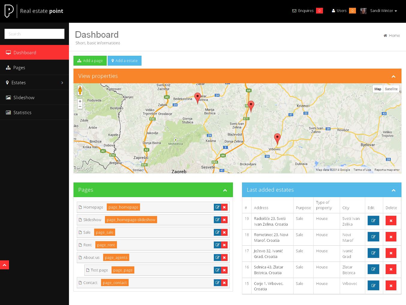 real estate agency portal by sanljiljan
