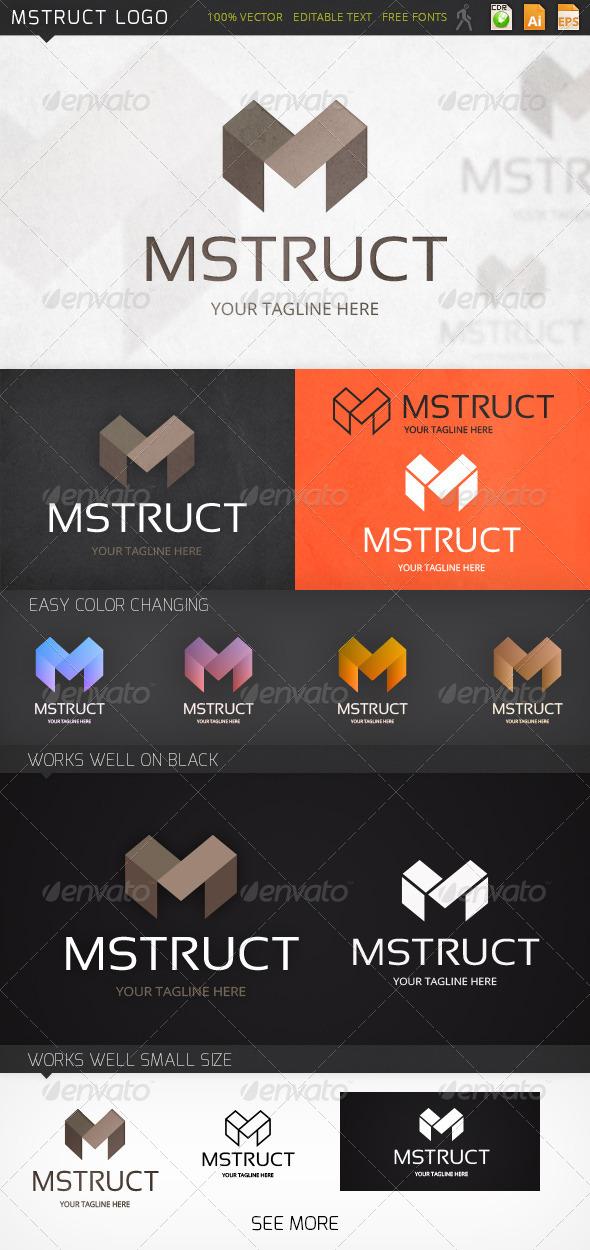 Mstruct Letter M Logo Template - Letters Logo Templates