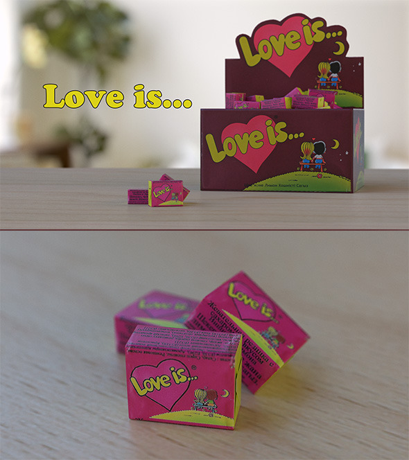 Gum Love Is - 3DOcean Item for Sale