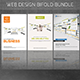 Web Design Bifold Brochures Bundle - GraphicRiver Item for Sale
