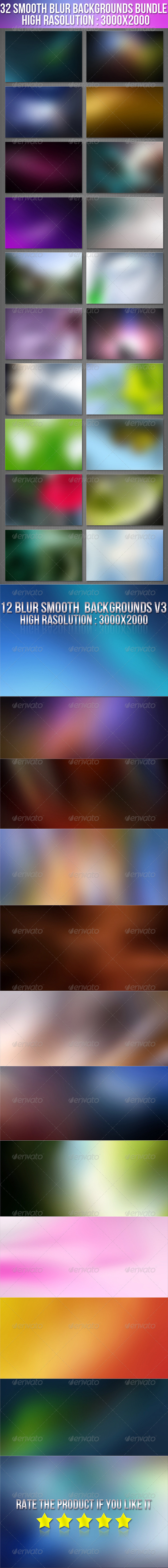 32 Smooth Blur Background Bundle - Abstract Backgrounds