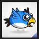 Flying Blue Bird Sprite Sheet - GraphicRiver Item for Sale