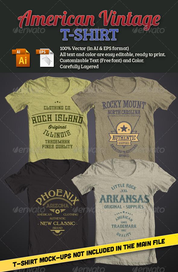 American Vintage T-Shirt - T-Shirts
