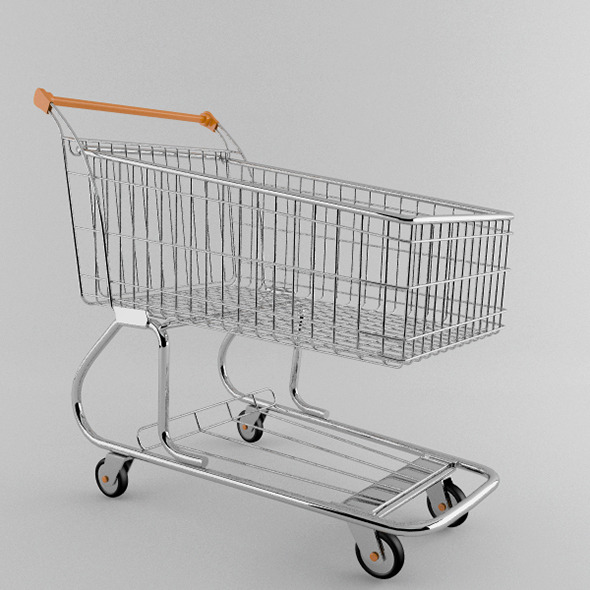 Supermarket trolley - 3DOcean Item for Sale