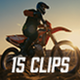 Collection of Motocross Rider Drives on the Off-Road Terrain. - Pack of 15 Clips in 4K - VideoHive Item for Sale