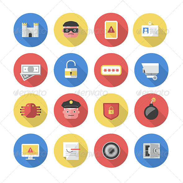 Security - Flat Icons - Miscellaneous Icons