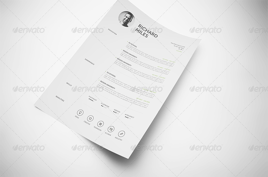 ultra clean resume by realstar graphicriver