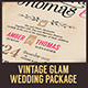 Vintage Glam Wedding Package - GraphicRiver Item for Sale