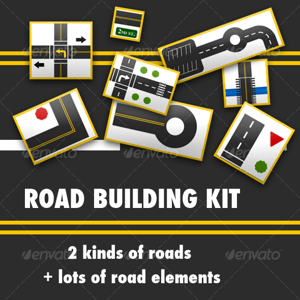 Road Building Kit - Scenes Illustrations
