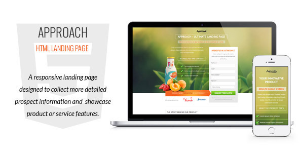 Approach – HTML Landing Page