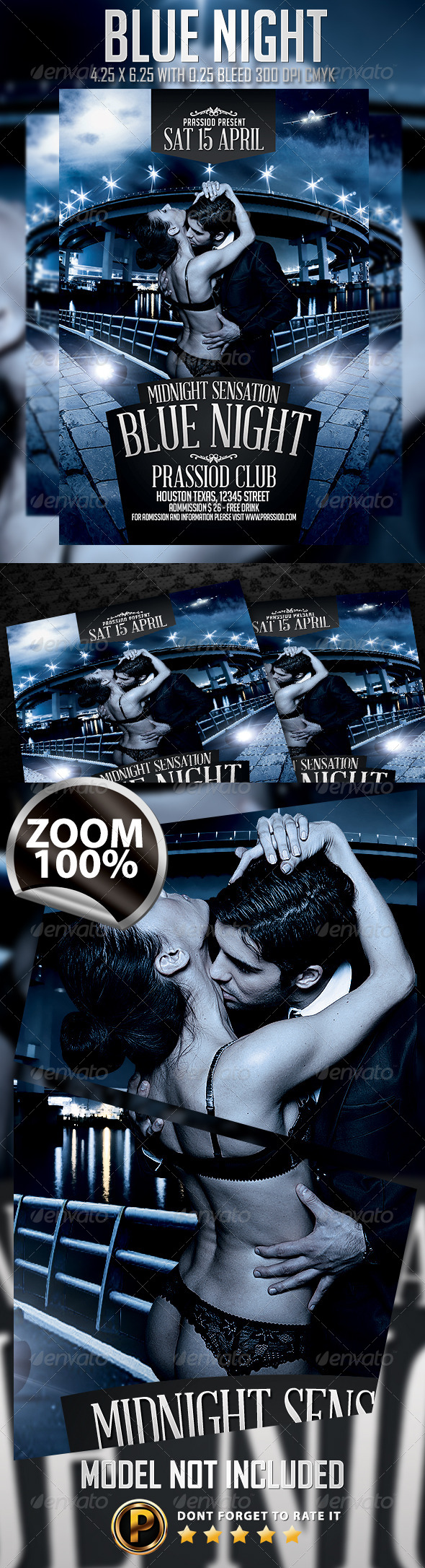 Blue Night Flyer Template Vol 2 - Clubs & Parties Events