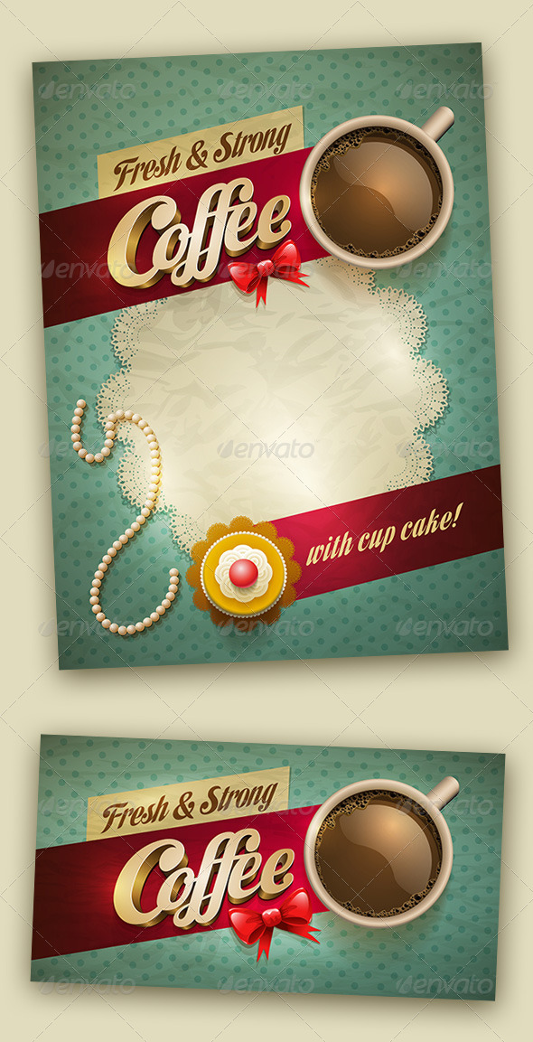 coffee and cake design template by sgursozlu graphicriver