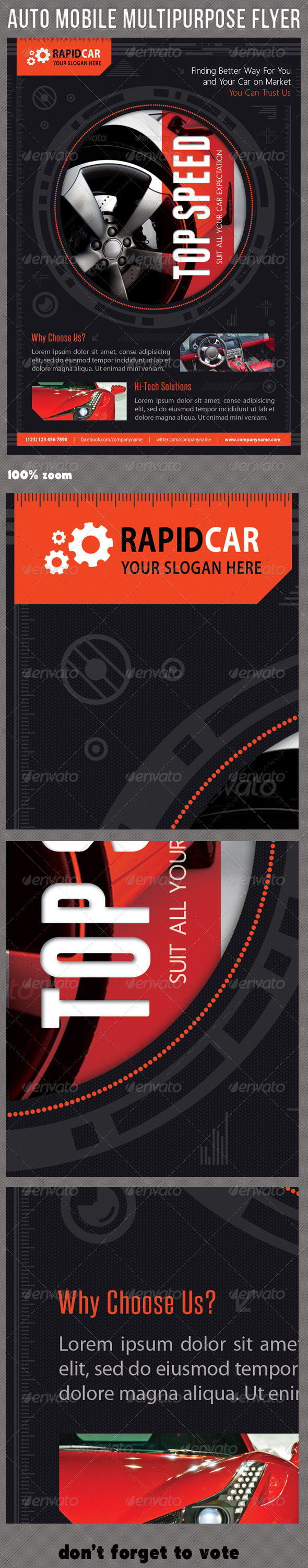 Auto Mobile Multipurpose Flyer 01 - Corporate Flyers