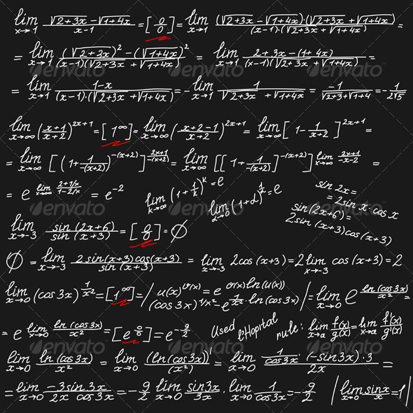 Background With Mathematical Symbols By Kavalenkava Graphicriver