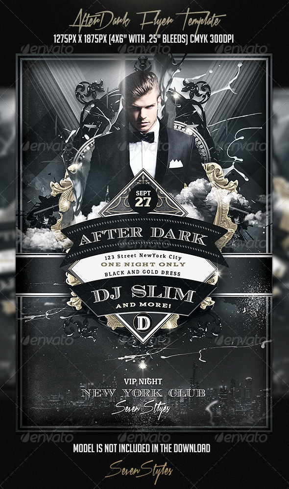 AfterDark Flyer Template - Flyers Print Templates