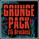 Grunge and Texture Brushes - Pack of 15 - GraphicRiver Item for Sale