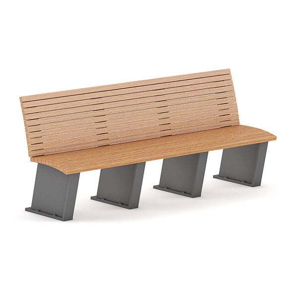 Wooden Bench 11 - 3DOcean Item for Sale