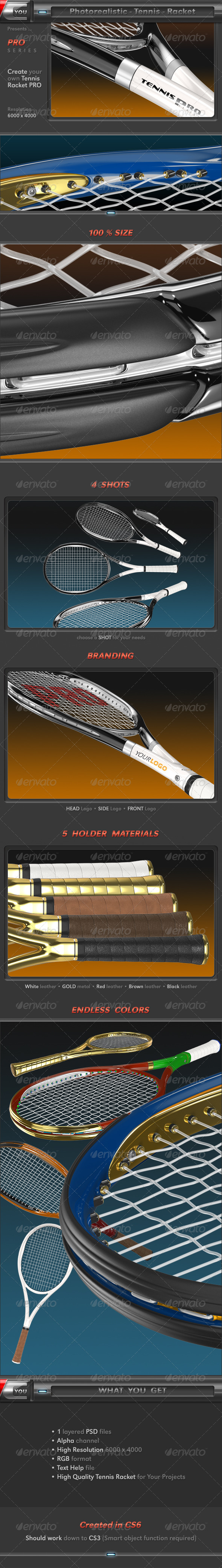Tennis Racket - Objects 3D Renders
