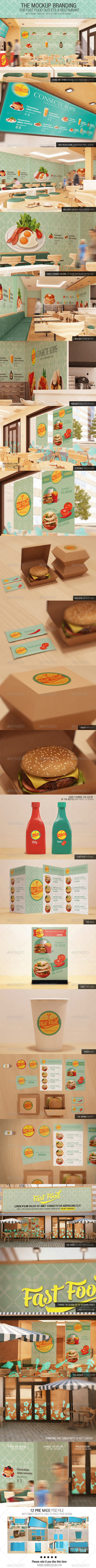 The Mockup Branding For Fast Food Outlets - Logo Product Mock-Ups