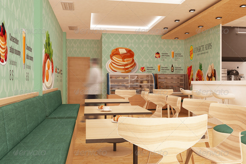 The mockup branding for fast food outlets by wutip