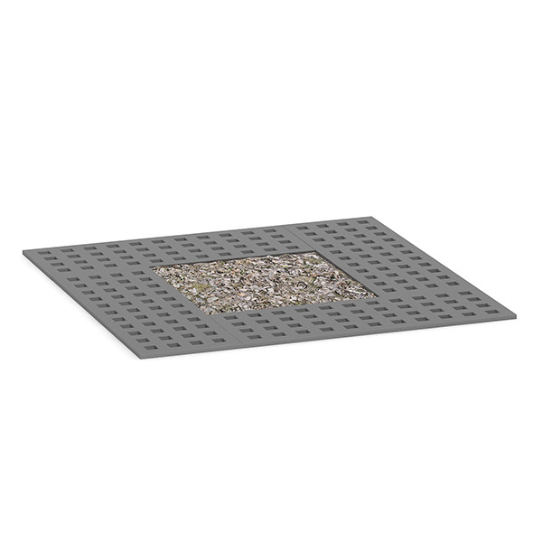 Square Metal Street Tile 1 - 3DOcean Item for Sale