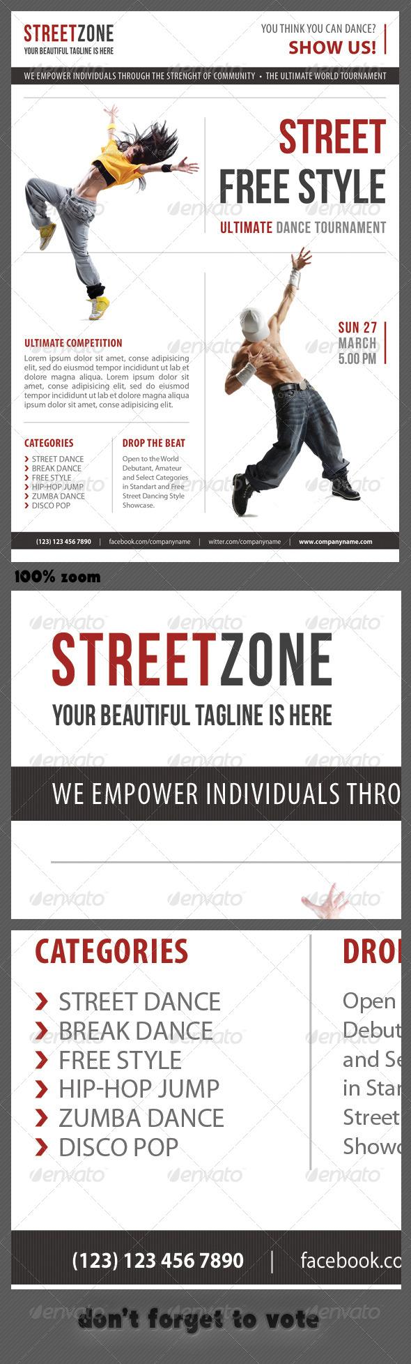 Street Dance Multipurpose Flyer 04 - Events Flyers
