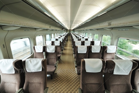 Train car seat - Stock Photo - Images